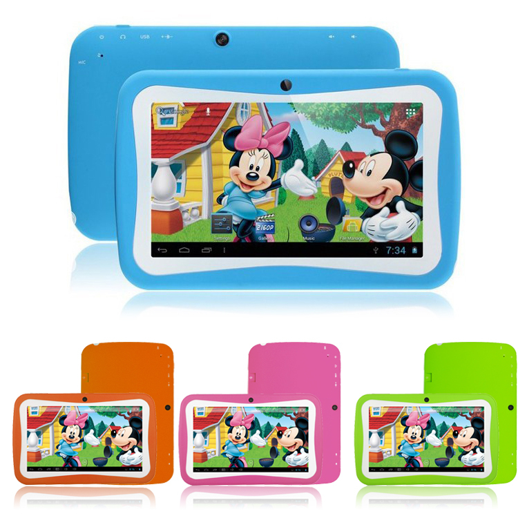 "Love gift multi color 3000mAh battery otg wifi dual camera dual core 4g rom 512mb ram cheap 7"" children's tablet for kids(China (Mainland))"