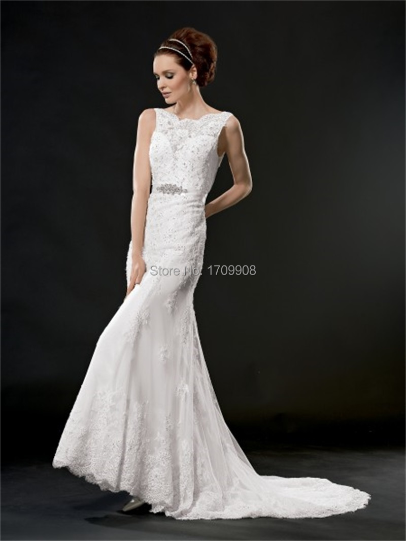 High fashion vintage lace sexy open back wedding dress for High back wedding dress