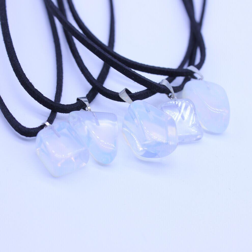 Natural Opal Quartz Gem Stones Charms necklaces Irregular Druzy Dowsing pendants Fashion Jewelry choker necklace Chain(China (Mainland))