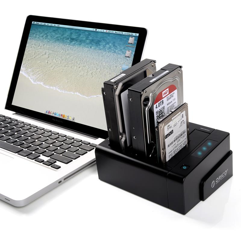 ORICO 6638US3-C USB 3.0 sata 2.5''/3.5'' Off-line Clone Hdd Docking Station-Black(Not including HDD)(China (Mainland))