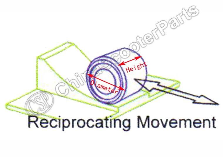 30x18 23 г ролик вариатора для CF188 CF moto 500 500CC CF196 800 800CC ATV UTV скутер запчасти - 11.11_Double Variator Roller