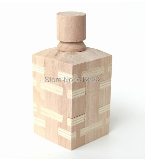 Wooden Wine Bottle Brain Teaser Puzzle(China (Mainland))