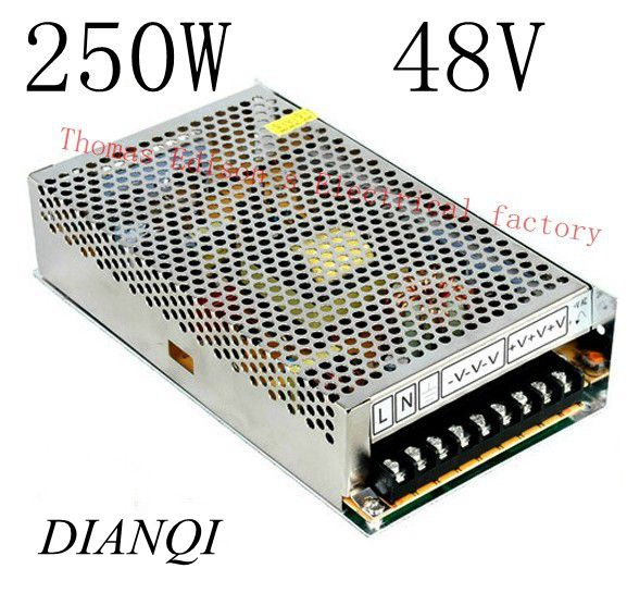 power supply 250w 48V 5A power suply 48v 250w ac to dc power supply unit ac dc converter high quality S-250-48(China (Mainland))