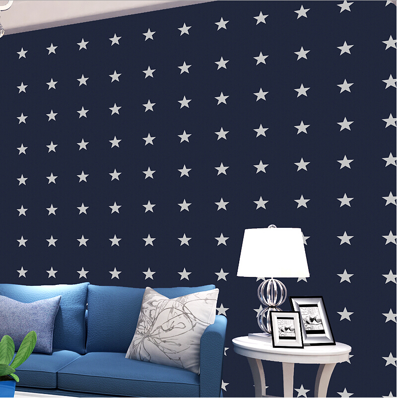 america designs full stars wallpaper for kid room stencils for walls