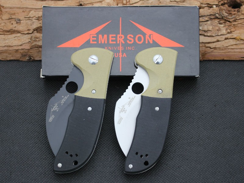 Buy Karambit Claw Cutter Folding Knife EMERSON 440C Steel Blade Survival Knifes Pocket Hunting Tactical Knives Camping Outdoor Tools cheap