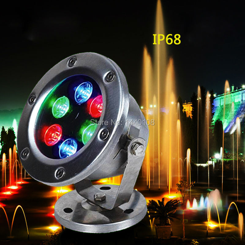 10pcs/lot RGB LED Pool Light IP68 AC12V/24V 6W Stainless Steel LED Underwater Light Swimming Pool Led for Fountain(China (Mainland))