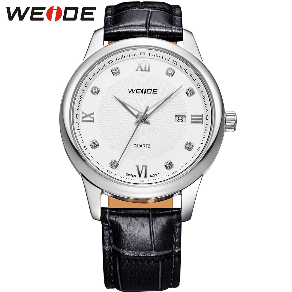 WEIDE Luxury Brand New Men Watch With Logo Tag Quartz-Watches Men Leather Strap Waterproof 30M Complete Calendar Wristwatches<br><br>Aliexpress