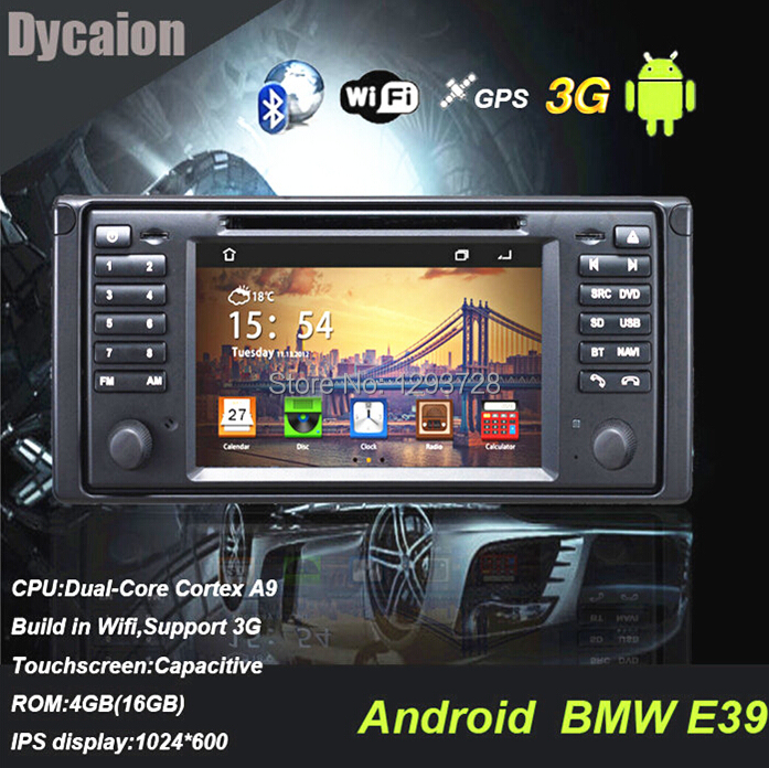 For bmw X5 DVD with IPOD/2 din 7'' touch screen gps e39/Car stereo radio in-dash for e39 X5 M5(China (Mainland))
