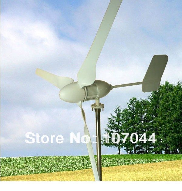 Three Blades 600W 48V Horizontal Wind Turbine,Used in Household,Hybrid Wind/Solar Street Light(China (Mainland))