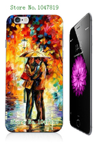 Mobile Phone Case Retail 1pc oil painting Protective White Hard Case Cover For iphone 6 Free Shipping