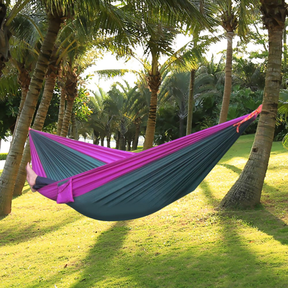 2016 Hot Assorted Color Parachute Nylon Strong Rope Double Color Parachute Nylon Fabric Hammock for Outdoor Activity New(China (Mainland))