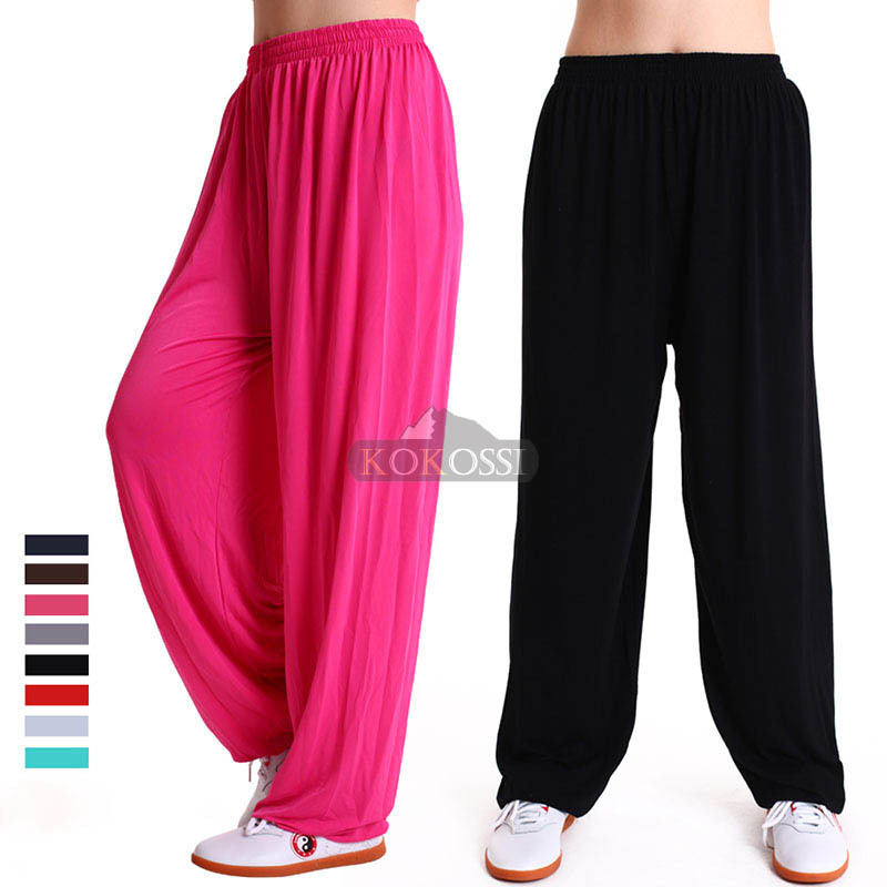 Modal Pants Bloomers Winter Yoga Clothing Tai Chi Square Dance Yoga Pants Kung Fu Running Pants Both Men and Women<br><br>Aliexpress