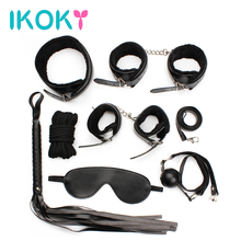 Buy IKOKY 7pcs Leather Bondage Kit Set Hand Cuffs Whip Rope Mask Collar Fetish Bondage Restraint Erotic Sex Toys Couples SM Game for $15.06 in AliExpress store