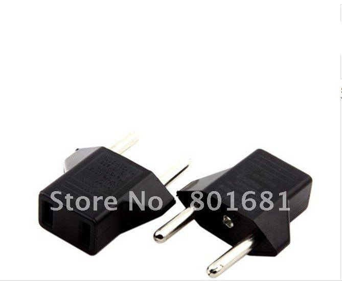 1 US EU AC Power Plug Travel Converter Adapter + +tracking number - Shenzhen Kuyia Cables Sales Department store