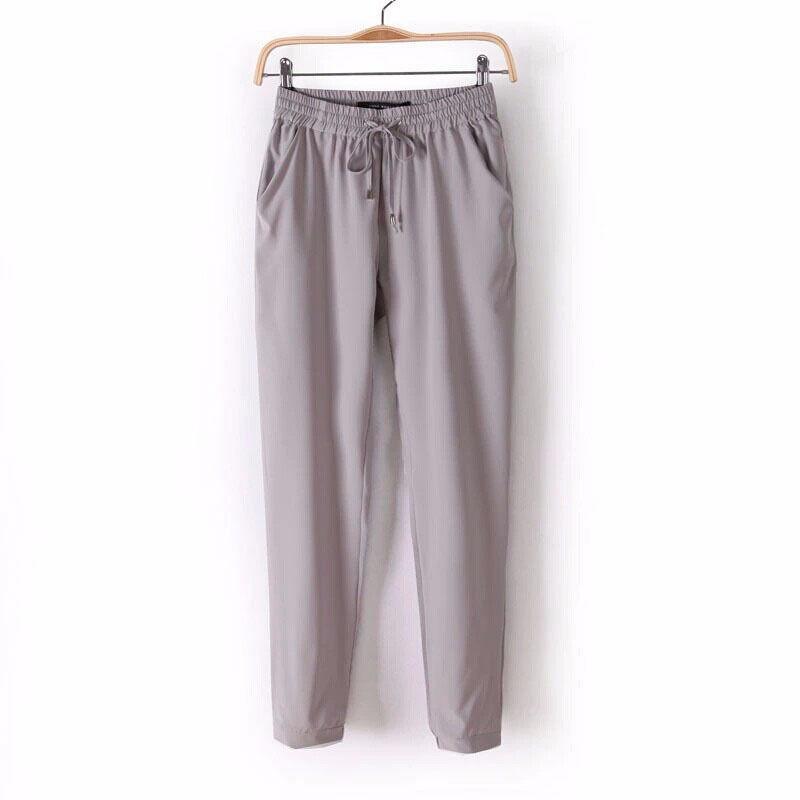 7Colors Summer New Women s Casual Pants Fashion Sexy Chiffon Elastic Waist Rainbow Pants Trousers Free