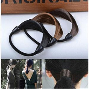 New Fashion Women Hair Rope Solid Synthetic Fiber Hairband /Braid Headwear for Women(China (Mainland))