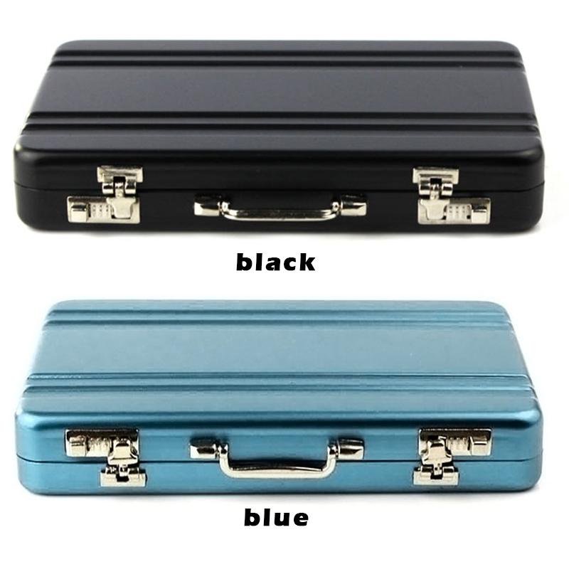 NEW card case box mini suitcase shaped design aluminum business card holder box case *35(China (Mainland))