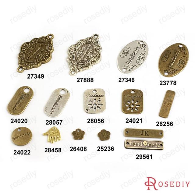 ( 17406 ) оптовая продажа круглый овальные цветы Hshape ручной шармов аксессуары ...