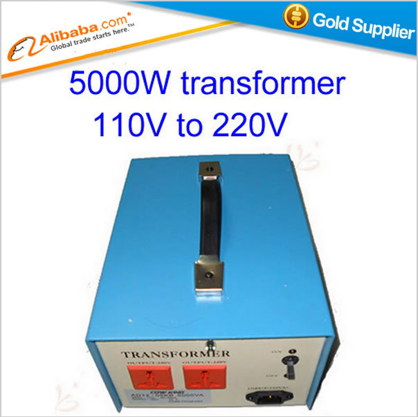 Free shipping!Hot selling 5000W transformer 110V to 220V 5KW voltage converter, for 110V voltage countries using 220V machine