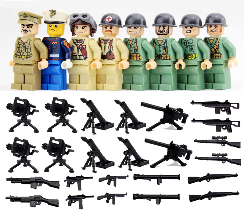 SHENYUAN SY614 War World 2 Pacific Model Japan VS US Navy Army minifigures Building Block Compatible legoe kid toy - Easter Toys Store store