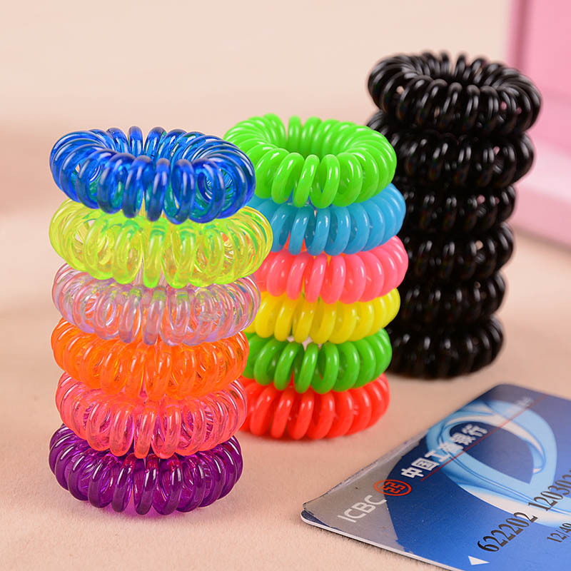 Large / medium / small telephone line hair ring High elastic translucent hair accessories Hot sell Free Shipping(China (Mainland))