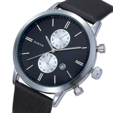 Splendid Men Casual Diving waterproof  Date Leather Military Japan Watches Gift Watch Branded Watches For Clock Male