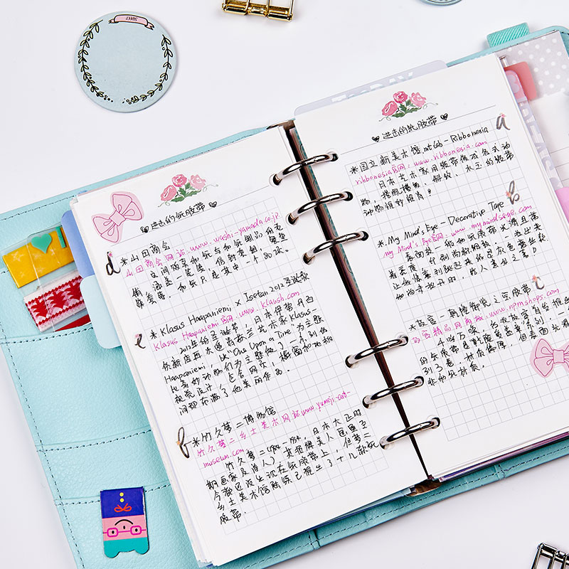 2016 new creative flowers series 6 holes spiral notebook paper,Cute inner paper core for notebooks,adaptation filofax A5 A6(China (Mainland))