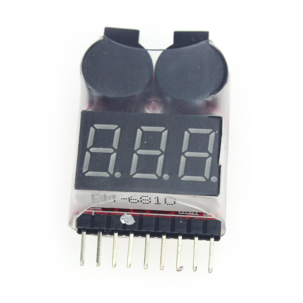 Low price! 2in1 Indicator 1-8s RC Lipo Battery Lithium Battery Tester low voltage Buzzer Alarm RC Remote Control Free shipping(China (Mainland))