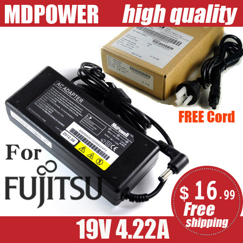 MDPOWER For Fujitsu FMV Lifebook T580 T730A T900 U1010 laptop power supply power AC adapter charger cord 19V 4.22A 80W(China (Mainland))