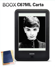 *ONYX BOOX C67ML carta e-book+PU cover touch screen Android 4.22  8G Wi-Fi E-ink Front Glowlight ebook Reader Hot sale