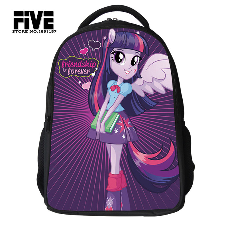 2015 new school bags for Teenagers Girls My Little Pony Backpack Kids School Bags Cute Boy Pony Horse Bag Child Mochila(China (Mainland))