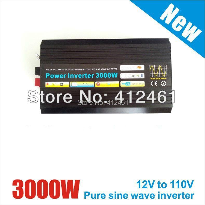 12v 3000w inverter 3kw pure sine wave, off grid tie, solar home inverter(China (Mainland))