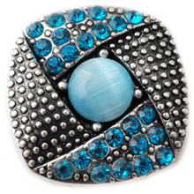 D02167 Hot Wholesale 6 Color High Quality Charm Rhinestone Styles Alloy Ginger Snap Button Bracelets Woman Rivca Snaps Jewelry