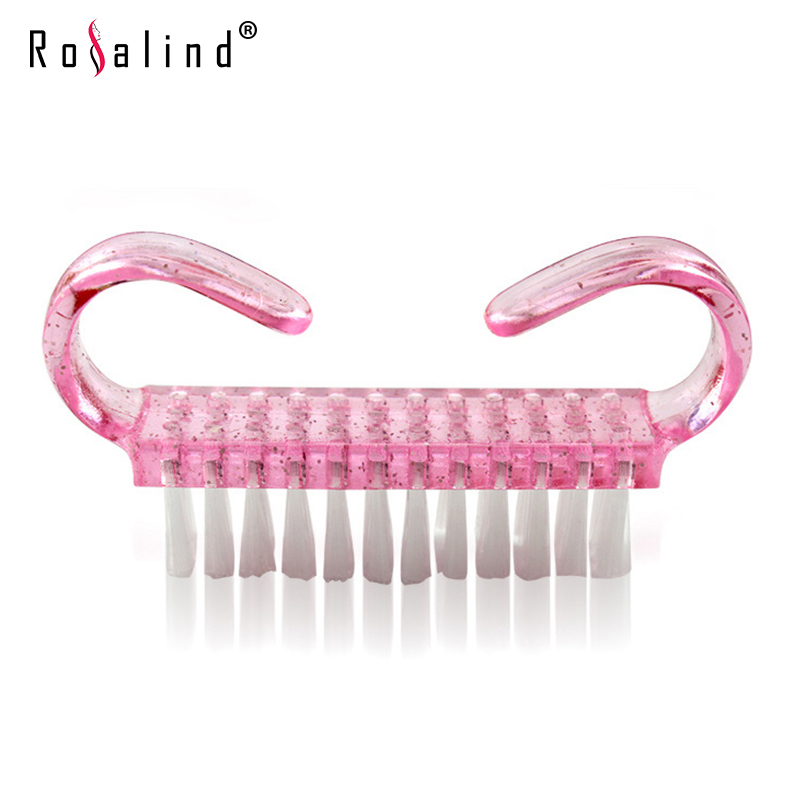 1 Pcs Rosalind Nail Art Clean Nail Brush ABS Nail Tools Remove Nails Dust Small Angle Cleaner(China (Mainland))