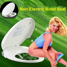 Non Electric Toilet Bidet Seat Washlet Dual Nozzles- American Elongate/Round Style/European WC Bathroom Toilet Seat Cover Bidets(China (Mainland))