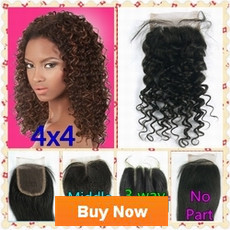 Brazilian Hair Peruvian Hair 3 way part middle part free part No part silk closure hair peices Queen hair products new star Seven days beauty deep wave Lace Closure Human Hair Closure Top Closure Bleached Knots(1)