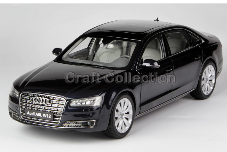 New 1:18 Scale Kyosho A8 A8L W12 2014 Diecast Mannequin Automotive Luxurious Sedan Beneficial Presents Pageant