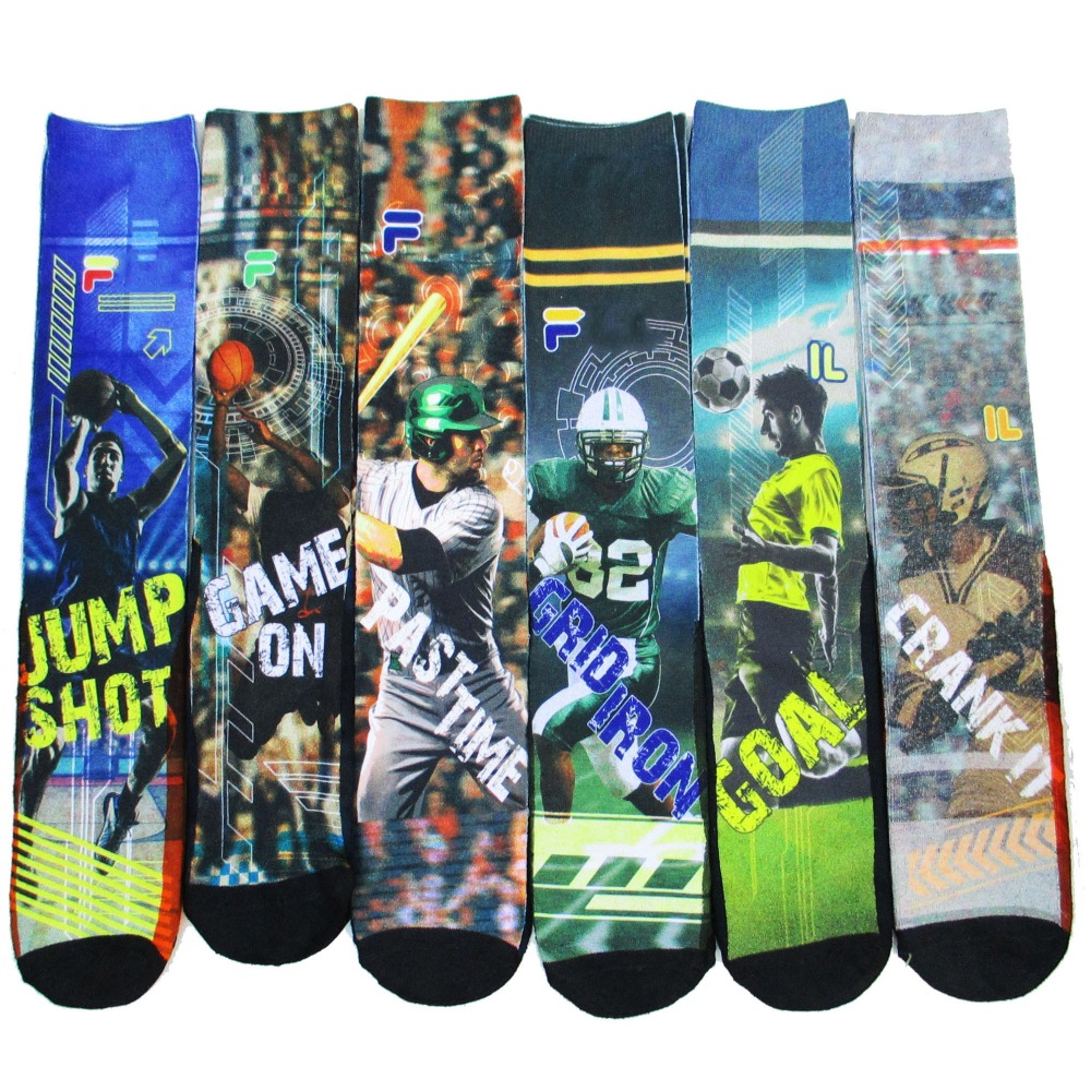 USA FA brand baseball basketball Rugby Football star 3D printed odd future skate socks compression basketball socks men meias 52(China (Mainland))