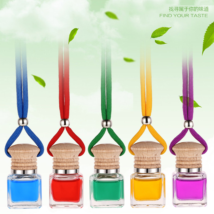 2016 car auto perfume plant essential oil Car Air Freshener Fragrance Bottles of perfume natural Hang rope pendant multicolor(China (Mainland))