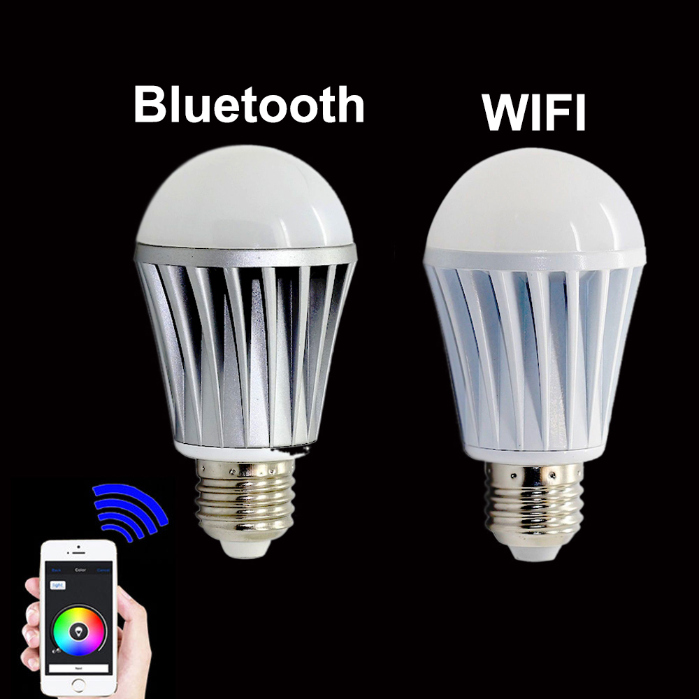 Buy led smart light bulb bluetooth wifi controlled wireless led 7w e27 rgbw Smart light bulbs