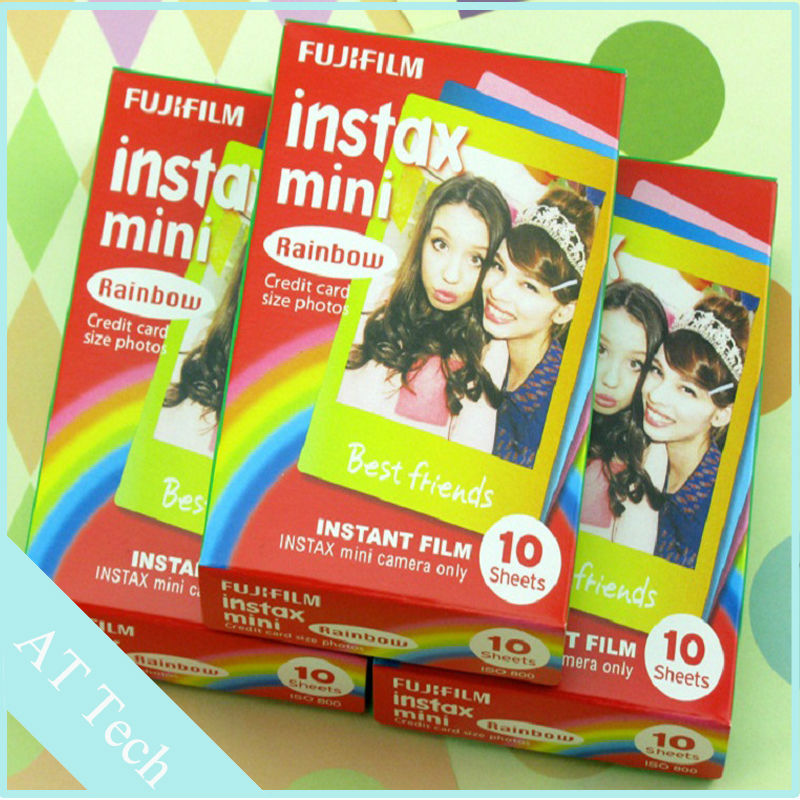 30 Sheet Rainbow Photo Paper Instax Mini Film Shoot Fujifilm Polaroid Instant 7s 8 etc