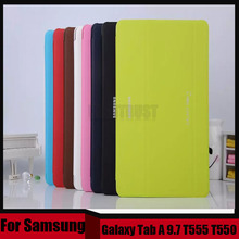 3 in 1 Business Smart Pu Leather Book Cover Case For Samsung Galaxy Tab A 9.7 T550 T555 T555C + Stylus + Screen Film