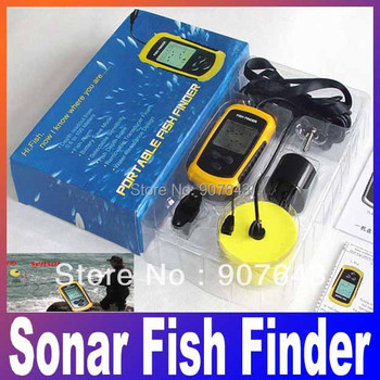 Free shipping +good quality ! depth Alarm one piece new FISHFINDER Portable Sonar Fish Finder