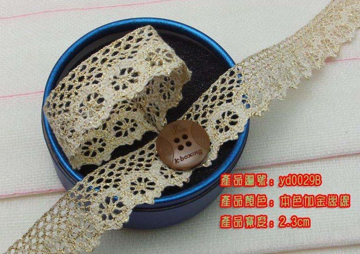 Wholesale free shipping Christmas gift packing lace,DIY clothing accessories,packing ribbon,2.3cm lace trim,short cut allowed
