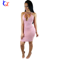 QY 2016 Newly Women Sexy Backless Bodycon Dresses Deep V neck Strapless Women Night Club Party