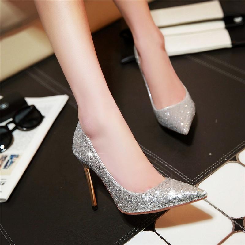 HTB1tR66LFXXXXb0aXXXq6xXFXXX7 - LOVEXSS Womens Size 10 Heels Metal Heel Stiletto Glitter Wedding Pumps Large Size 34 - 43 Black Golden Silver Heels Shoes