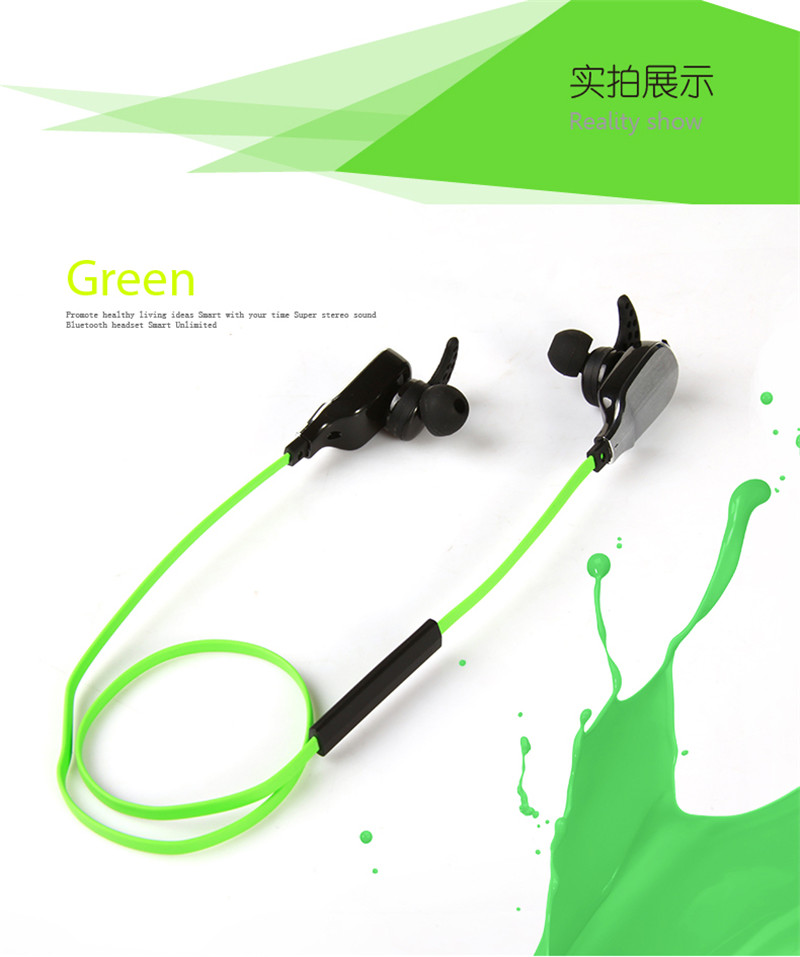 Universal Sport Bluetooth V4 0 Headset Wireless Stereo Bluetooth Headphone Earphone for Cellphones