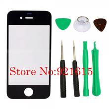 10Set Touch Panel Screen Glass Lens Cover White Black for iPhone 4 4S LCD Display Digitizer with Screwdriver Tool Kit Wholesale(China (Mainland))