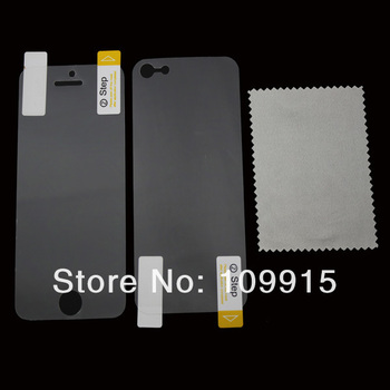 For iPhone 5 5G Anti Glare Matte Full Body Films Front+Back Screen Protector Guard