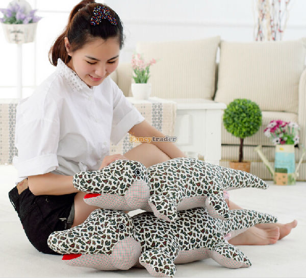 Fancytrader Novelty Toy! 35'' / 90cm Giant Stuffed Cute Plush Crocodile Toy, Great Gift For Kids. Free Shipping FT50528(China (Mainland))